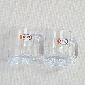 Set of A&W Root Beer Glass Mugs